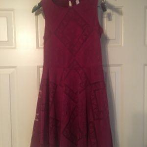 Girl's Midi dress short sleeve lining